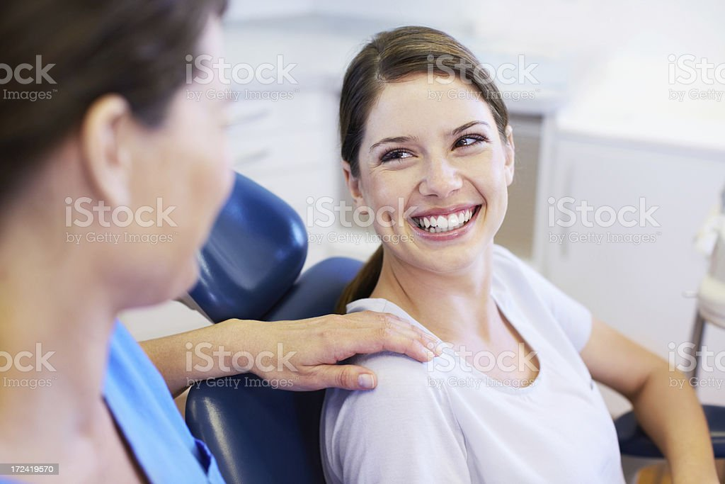 Brilliant white smile stock photo