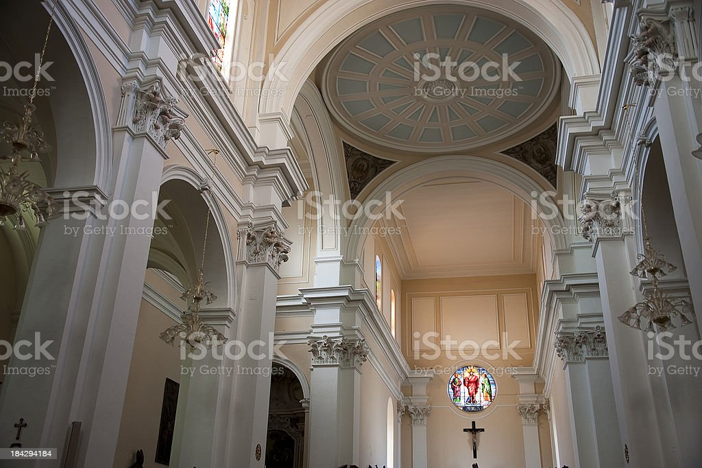 Brindisi, Cathedral's interior royalty-free stock photo