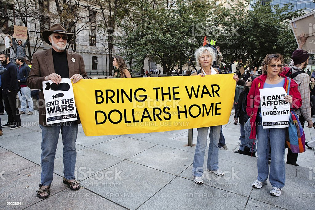Bring the War Dollars Home for health insurance royalty-free stock photo