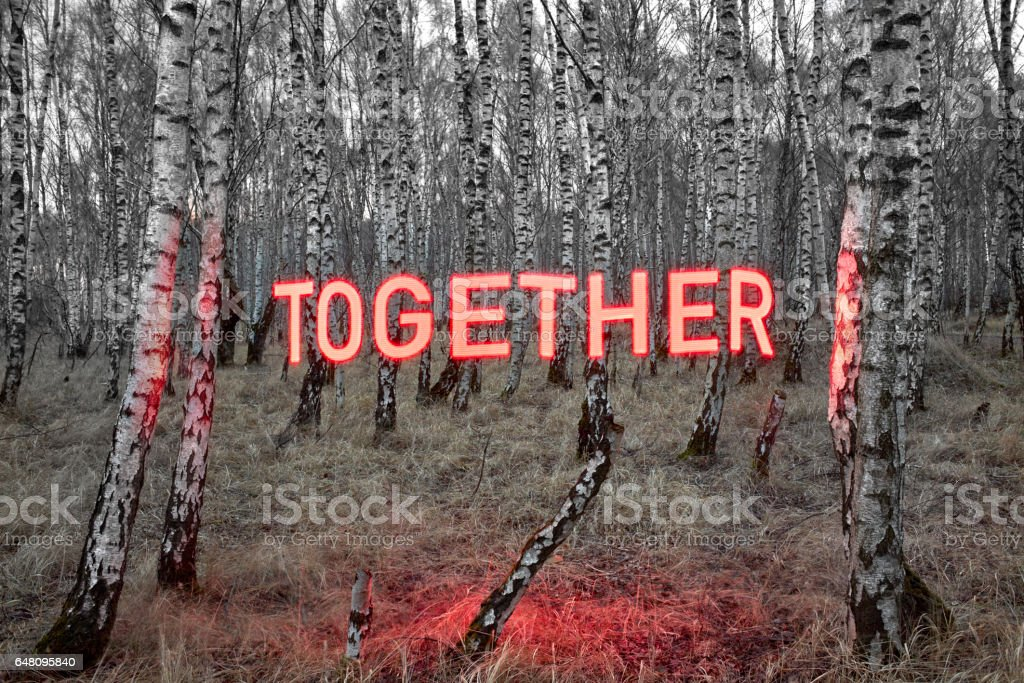 Bring us together stock photo