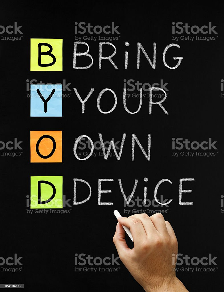 Bring Your Own Device royalty-free stock photo