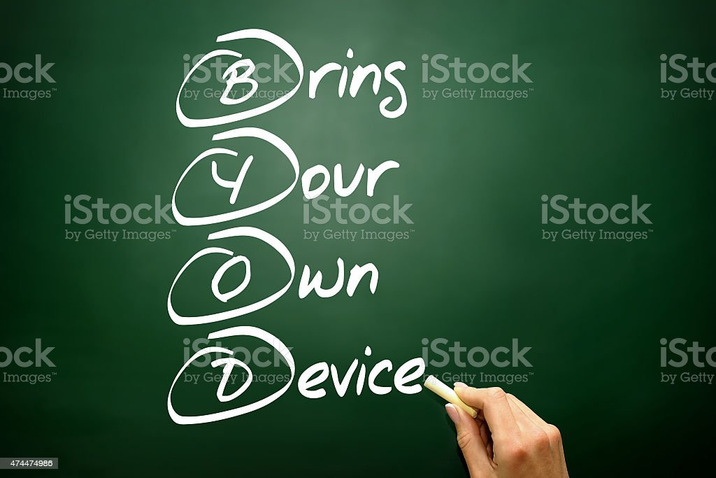 Bring Your Own Device stock photo