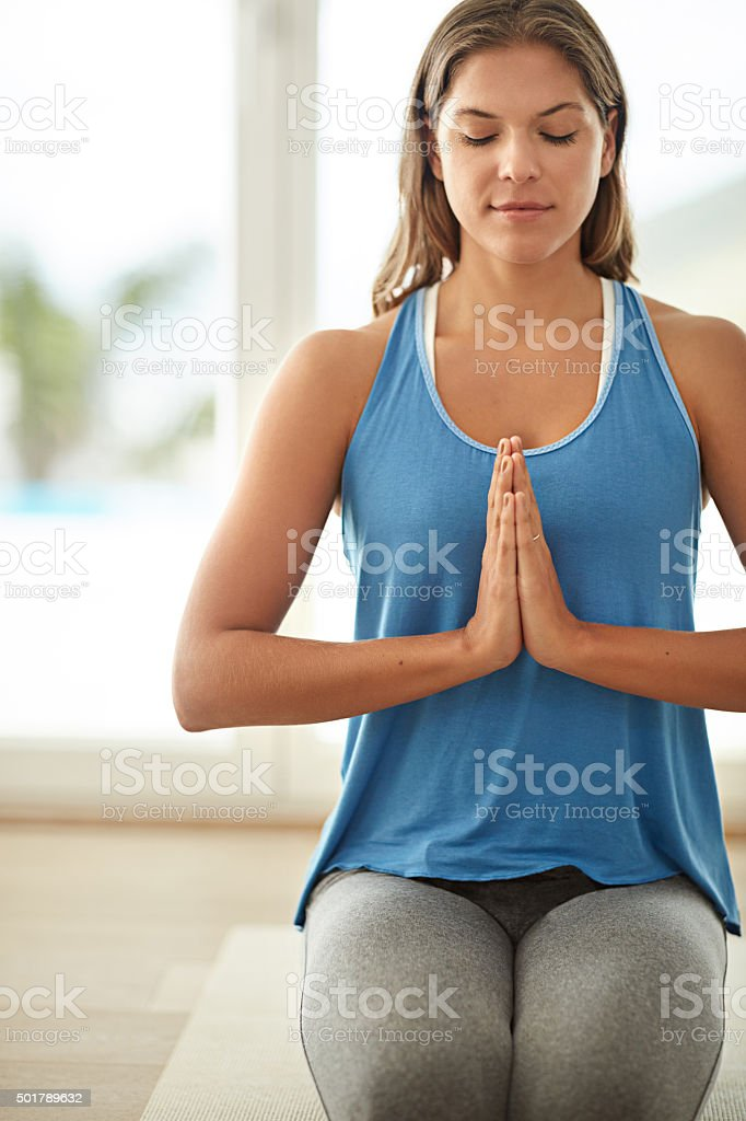 Bringing body, mind and spirit in harmony stock photo
