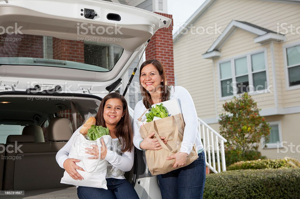 Bringing groceries home royalty-free stock photo
