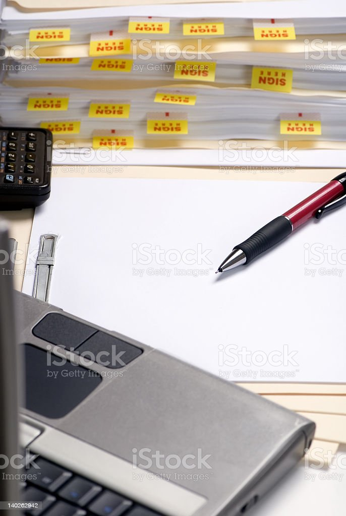 Bringing home the office royalty-free stock photo