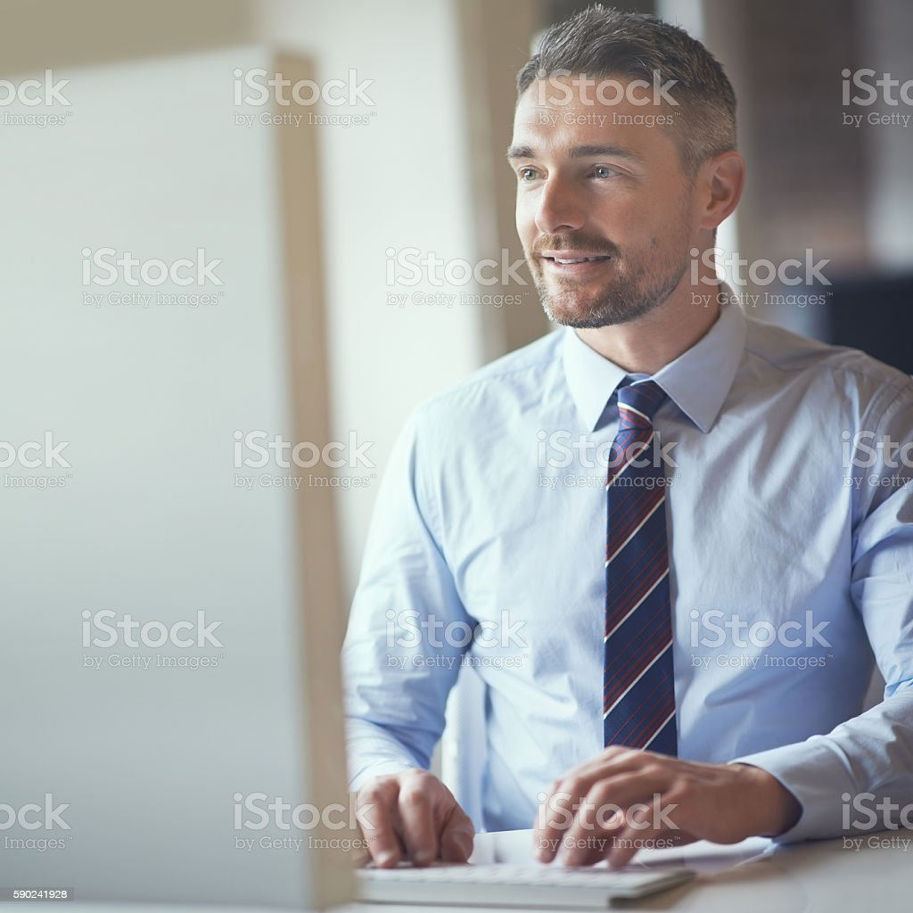 Bringing it all together with the help of technology stock photo