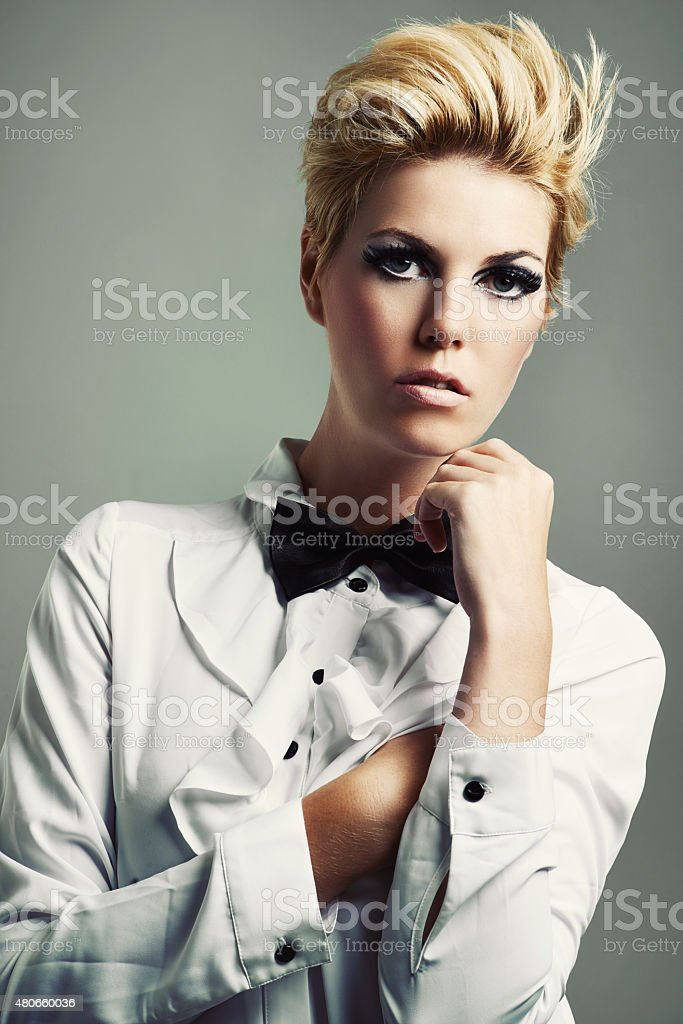 Bringing the bow tie back stock photo