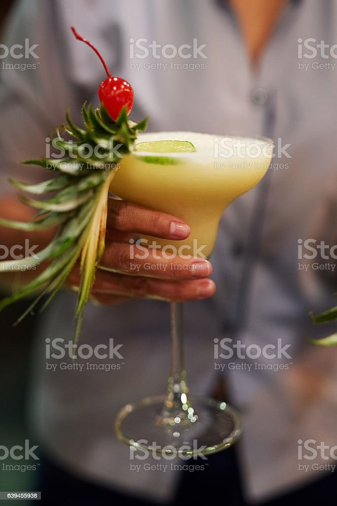 Bringing the drinks to you stock photo