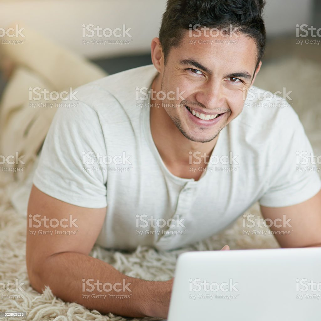 Bringing the world closer to me with wireless technology stock photo
