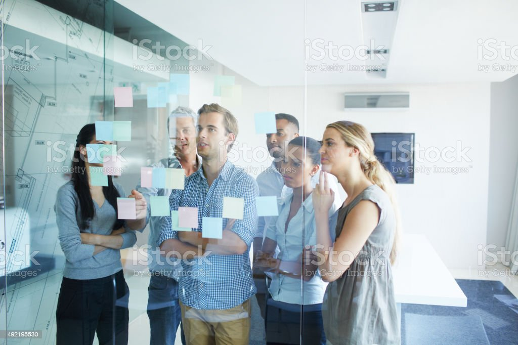 Bringing their project to life with a solid structure stock photo