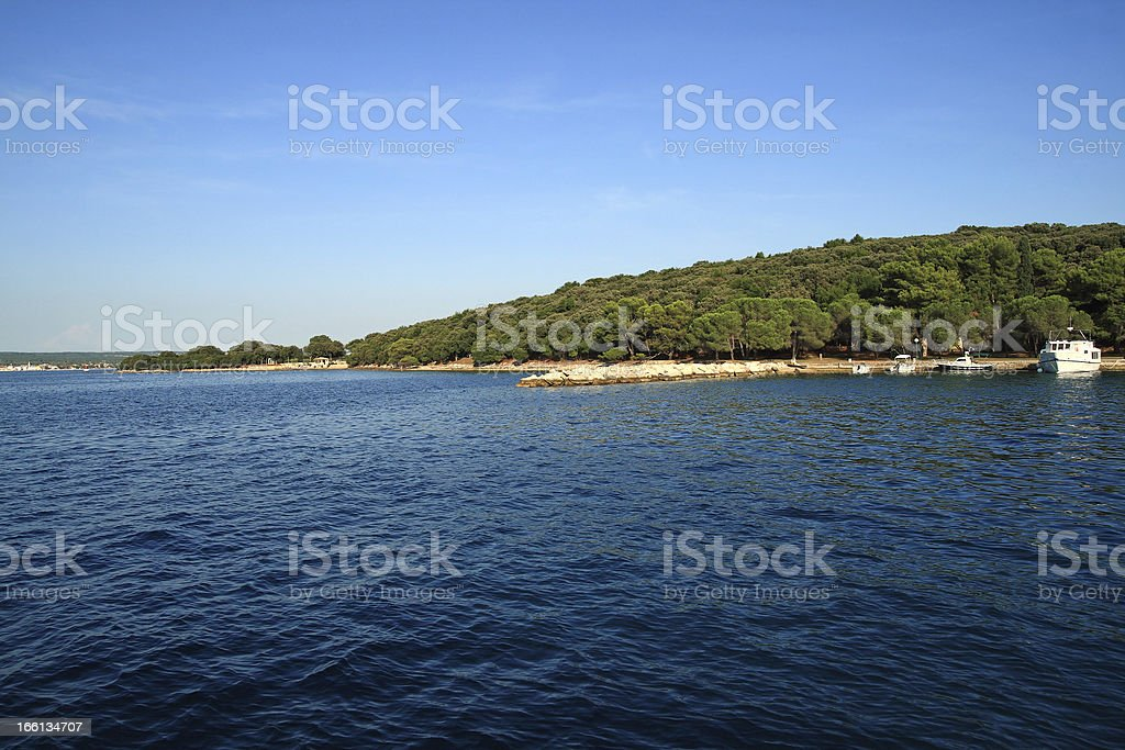 Brioni National Park stock photo
