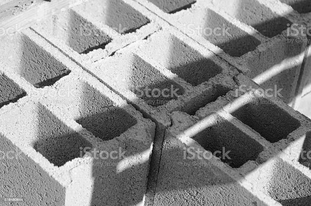 Brique, Parpaing, Empilé, stock photo