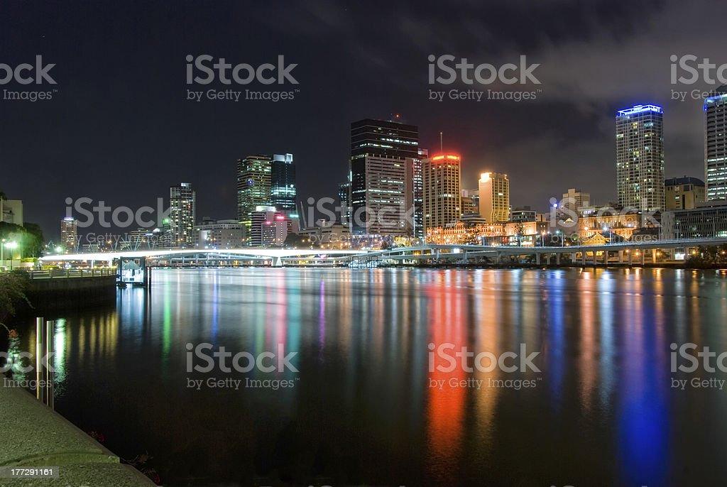 Brisbane City At Night - Queensland - Australia stock photo