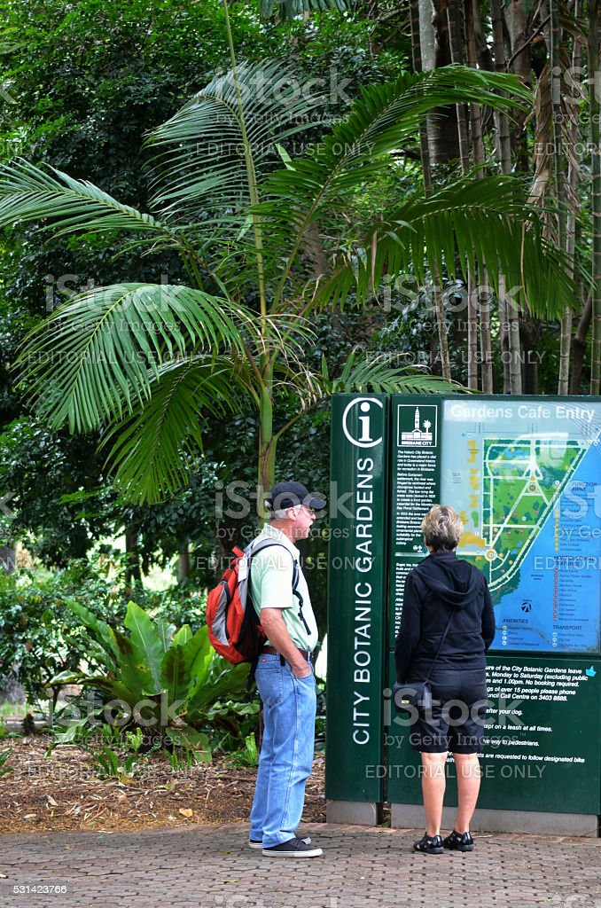 Brisbane City Botanic Gardens stock photo