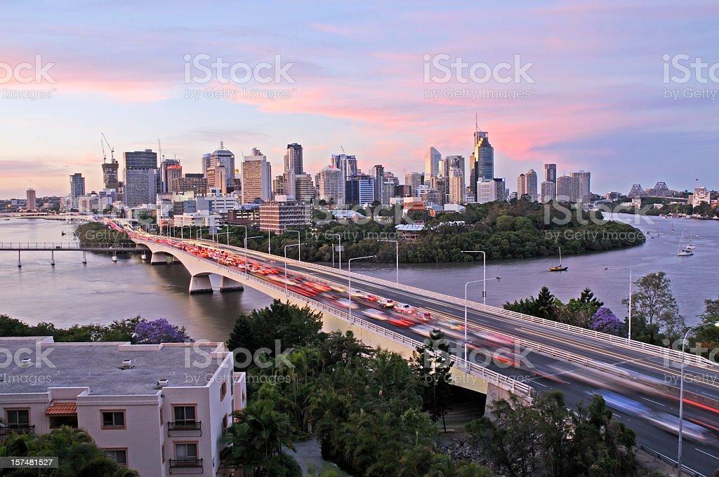 Brisbane City congestion stock photo