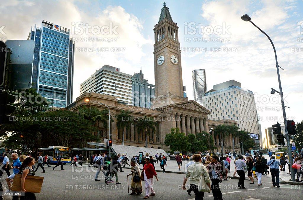 Brisbane City Hall - Queensland Australia stock photo