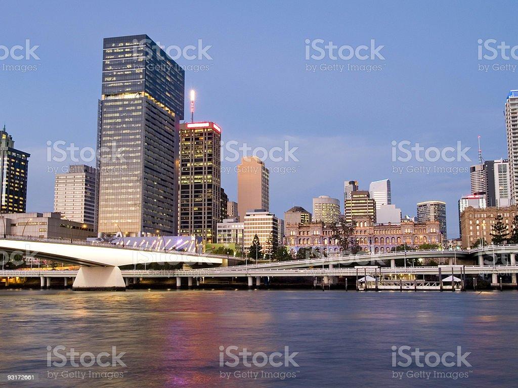 Brisbane City Night royalty-free stock photo