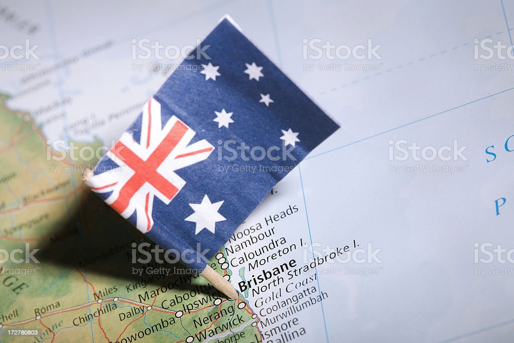 Brisbane Flag 1 stock photo