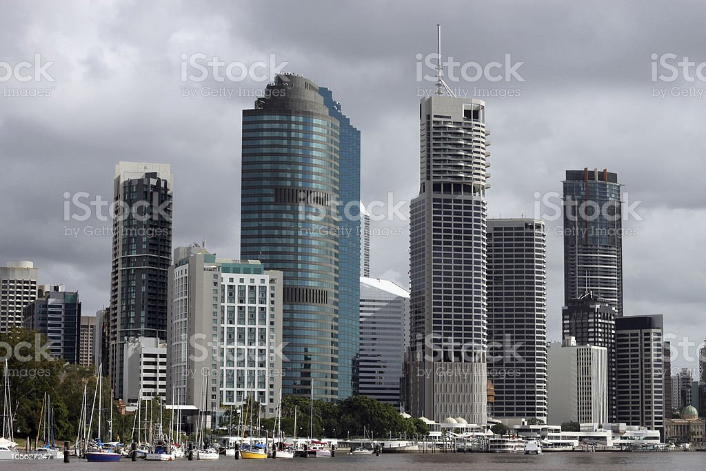 Brisbane from the water stock photo