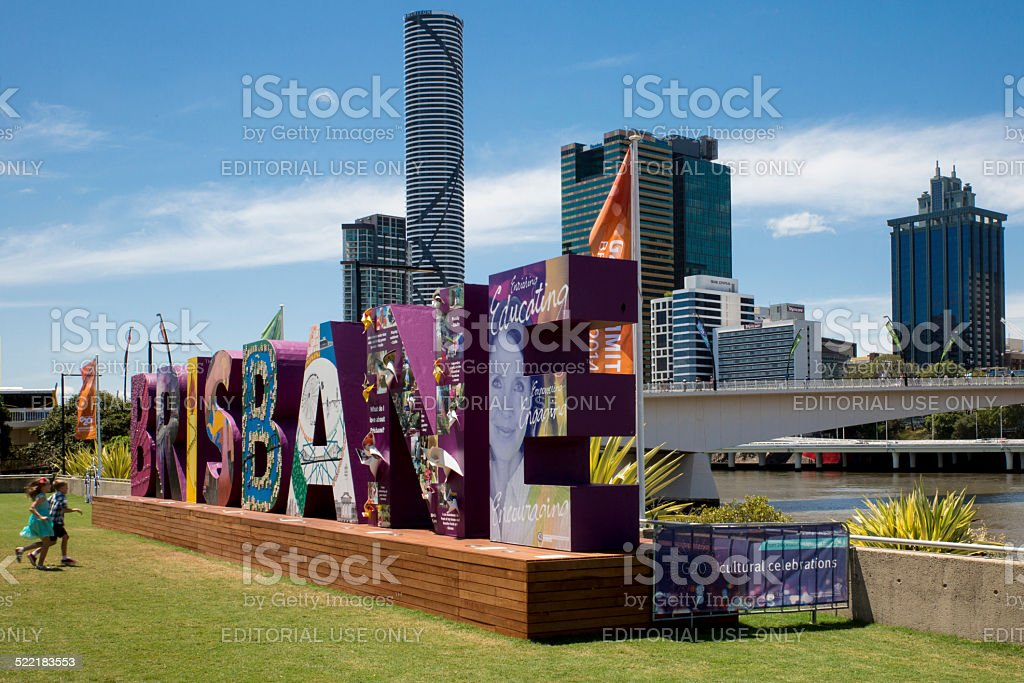 Brisbane G20 Sign stock photo
