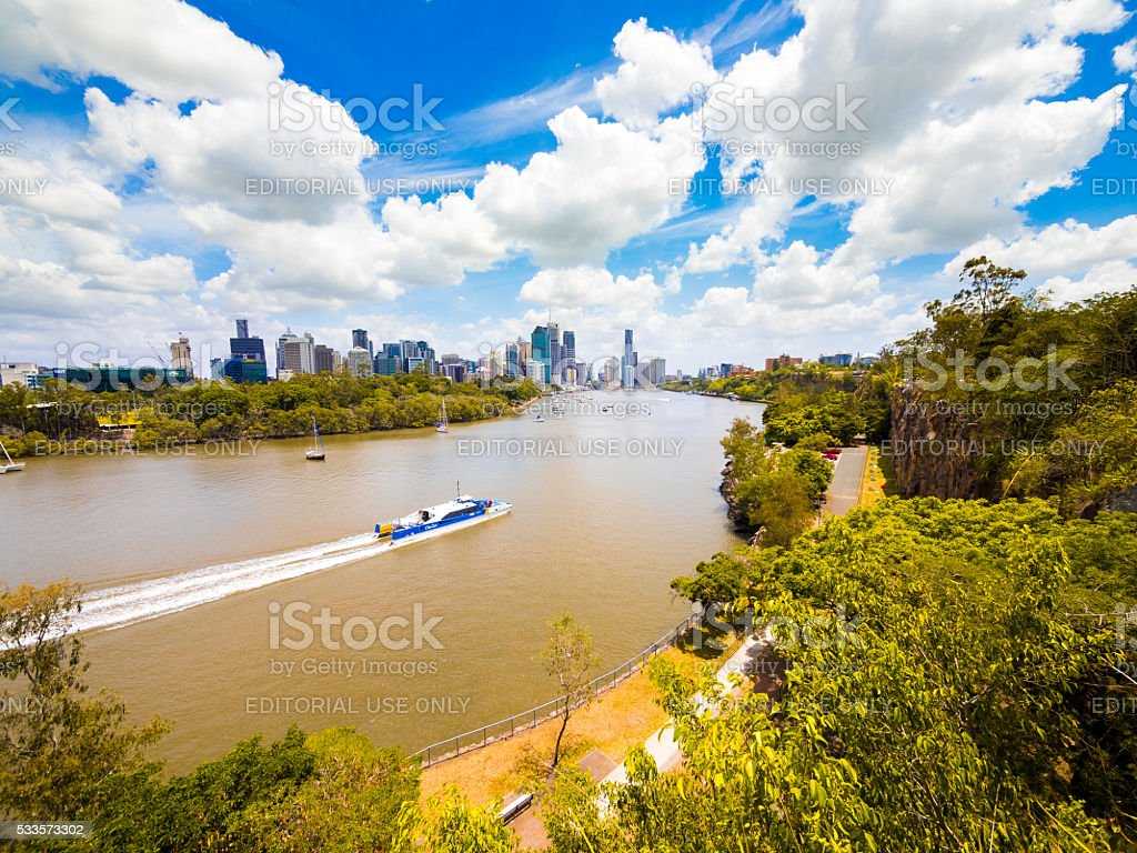 Brisbane River in Australia stock photo