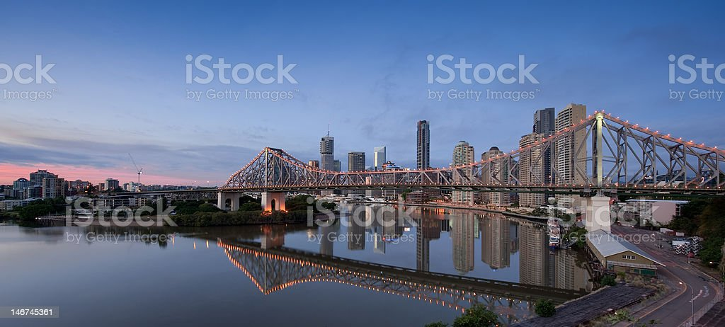 Brisbane River Reflections stock photo