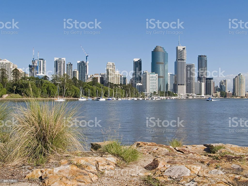 Brisbane Riverside royalty-free stock photo