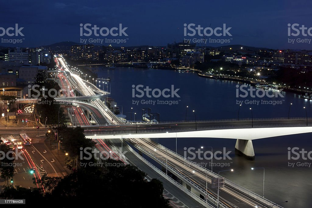 Brisbane Rush Our Traffic royalty-free stock photo