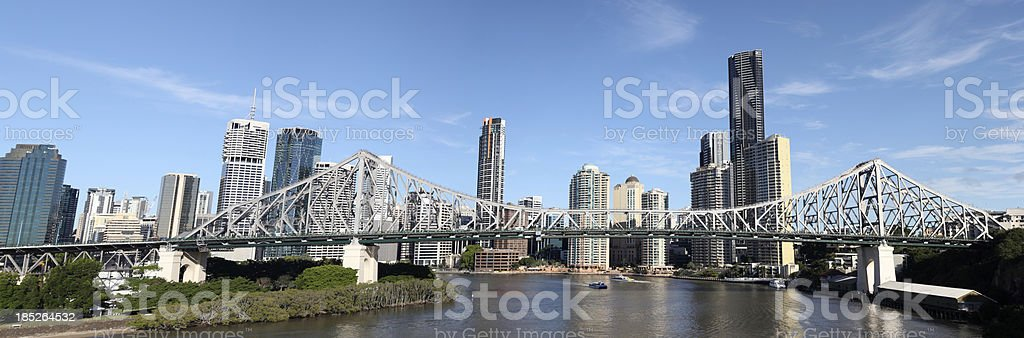 Brisbane Skyline and Story Bridge stock photo