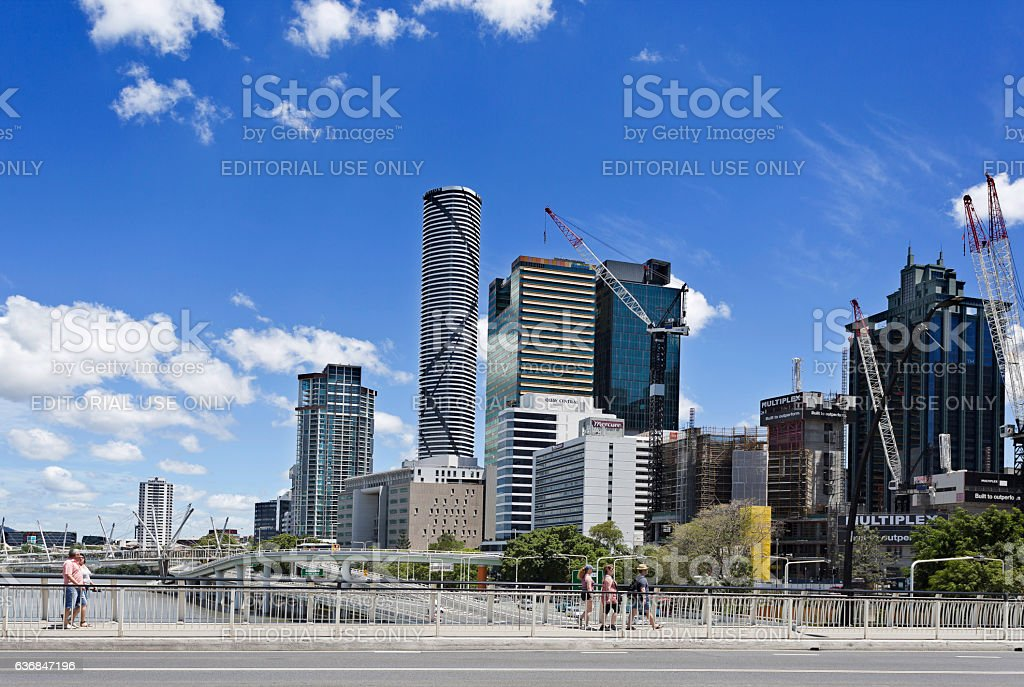 Brisbane Skyscrapers by the River stock photo