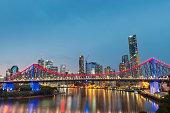 Brisbane Story Bridge during blue hour