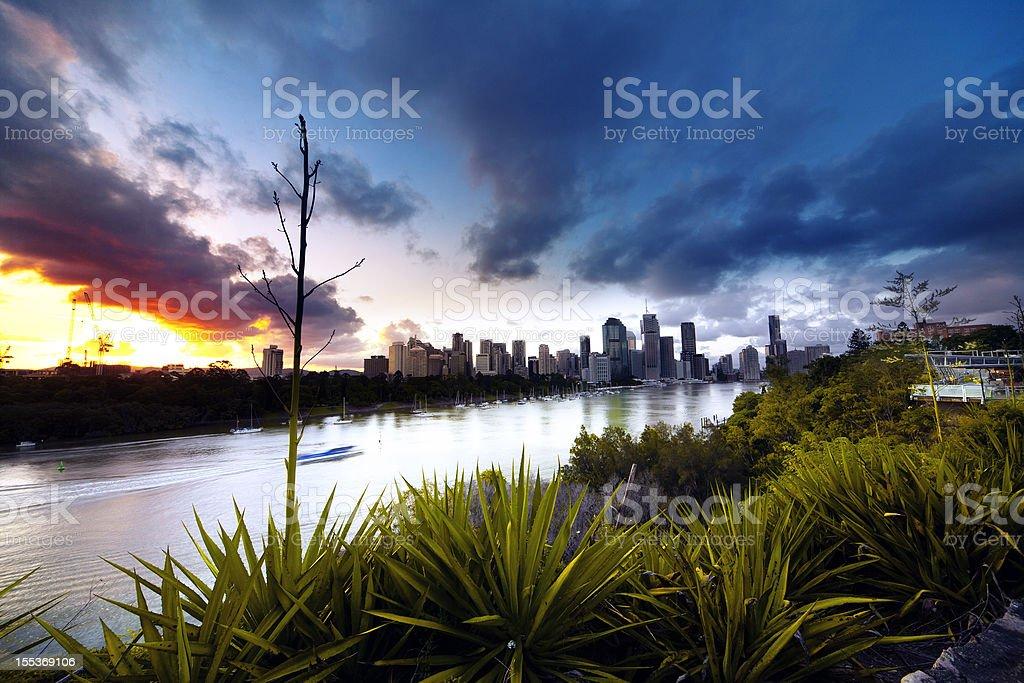 Brisbane Sunset stock photo