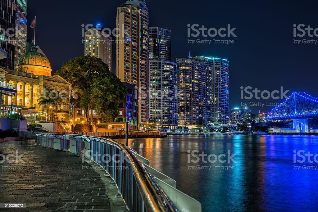 Brisbanes waterfront stock photo