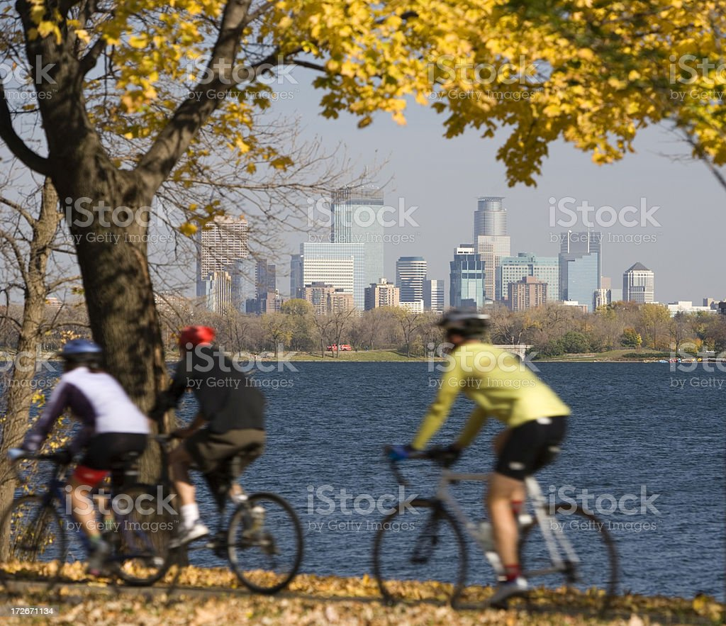 Brisk fall day in Minneapolis. royalty-free stock photo