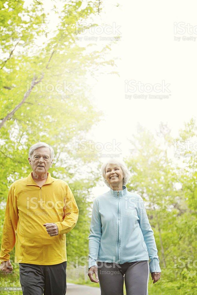 Brisk walk in the crisp morning royalty-free stock photo