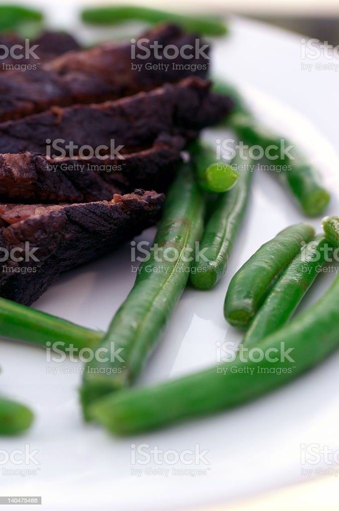Brisket & Beans royalty-free stock photo