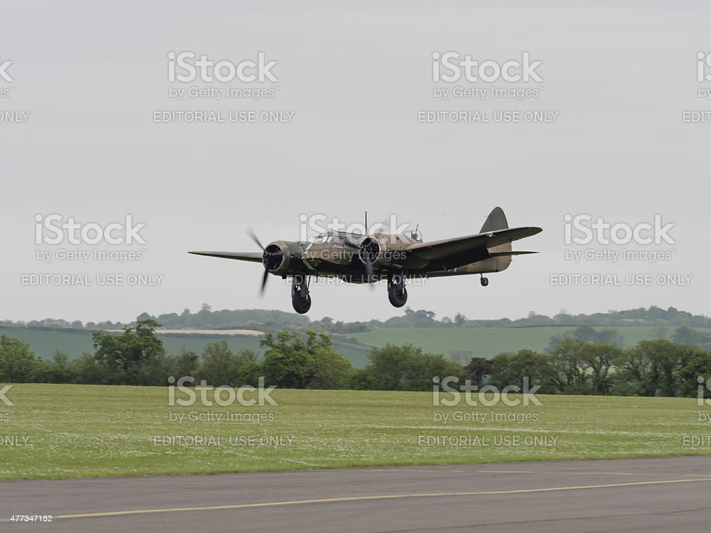 Bristol Blenheim bomber stock photo