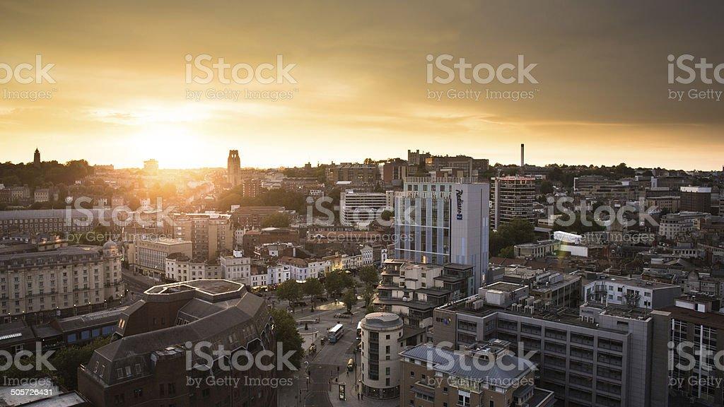 Bristol City Sunset stock photo