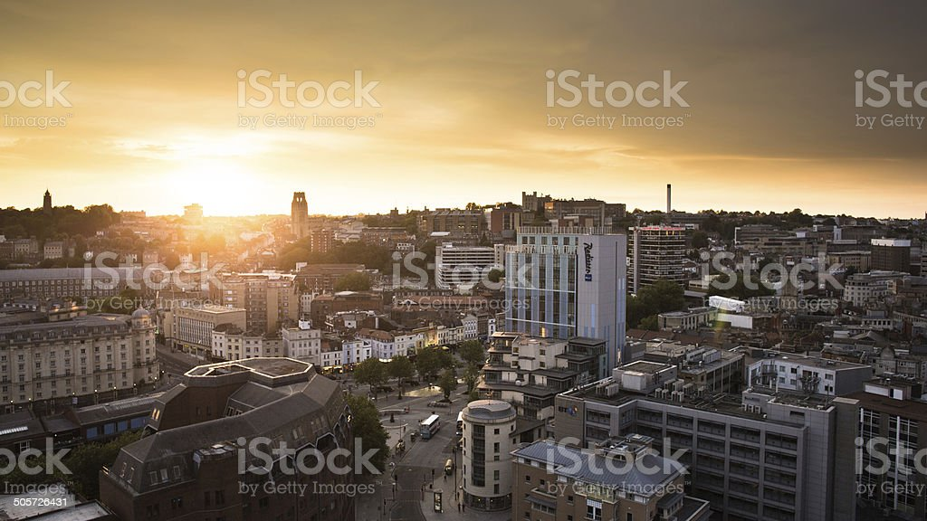 Bristol City Sunset stock photo