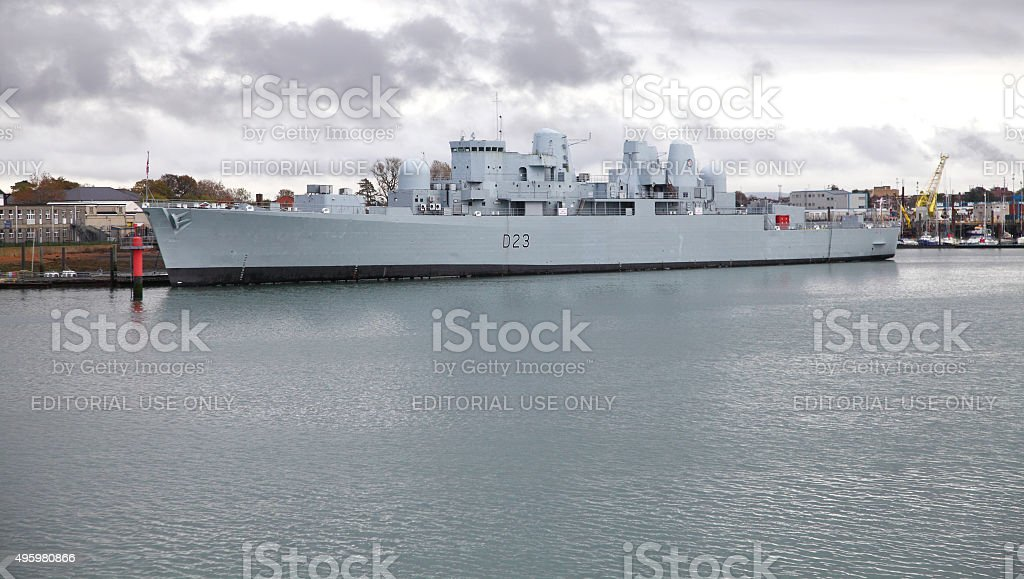 HMS Bristol (D23) Destroyer stock photo