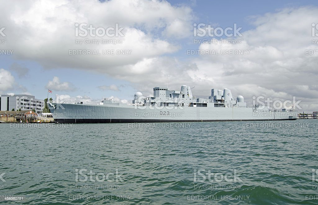 HMS Bristol, Portsmouth stock photo