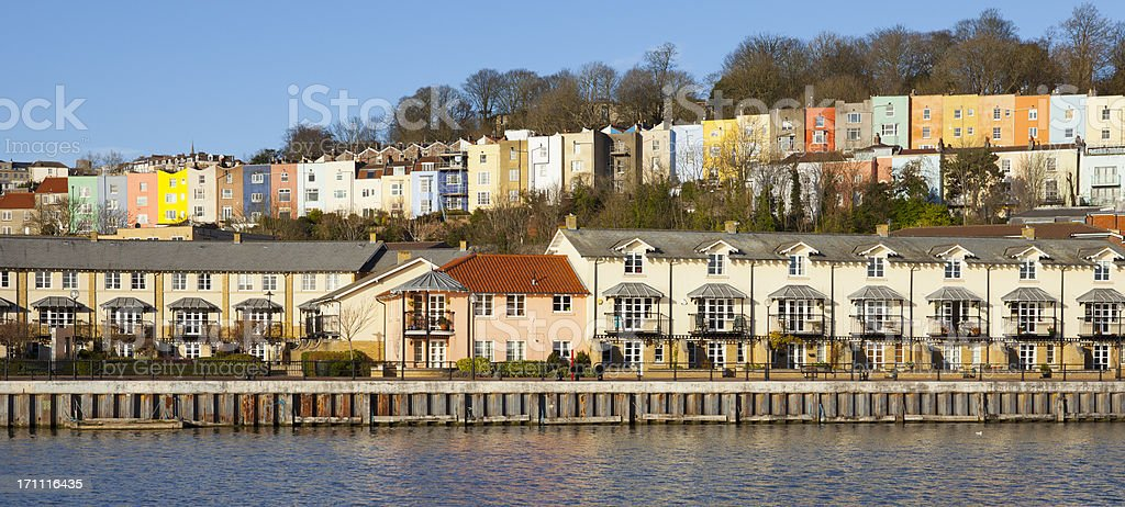 Bristol UK Harbourside Homes stock photo