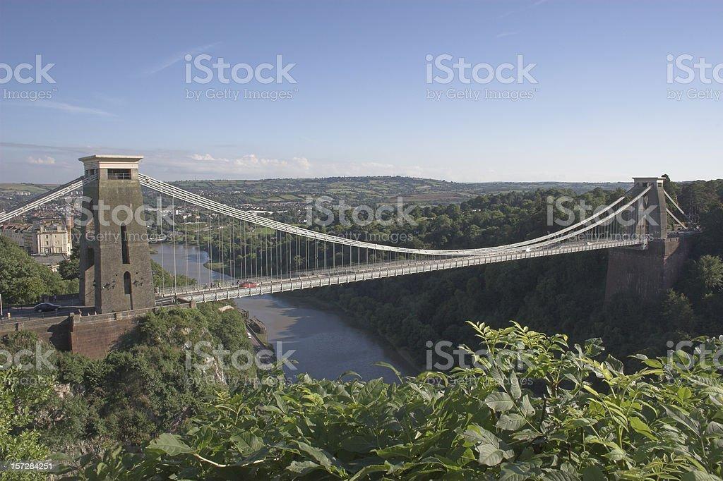 Bristol's world-famous Suspension Bridge stock photo