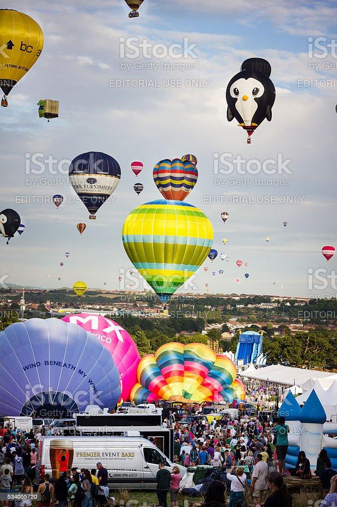 Bristrol International Hot Air Balloon Fiesta stock photo