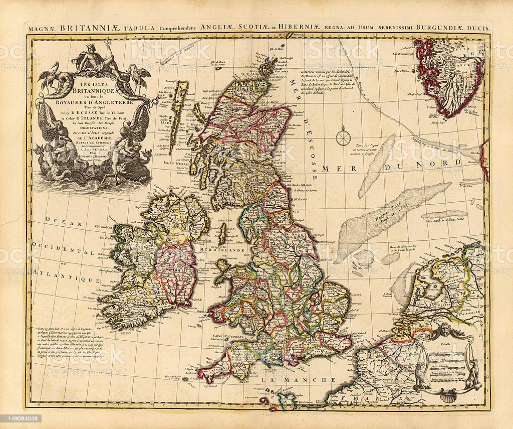 Britain 1742 stock photo