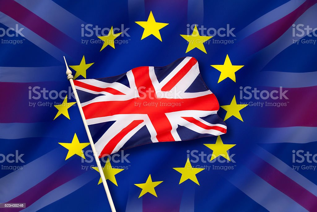 Britain and the European Union stock photo