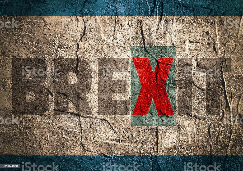Britain exit from European Union relative image stock photo