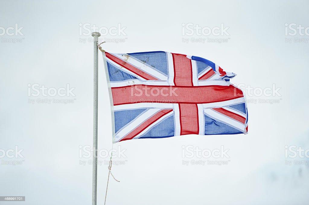 Britain flag at Port Lockroy stock photo