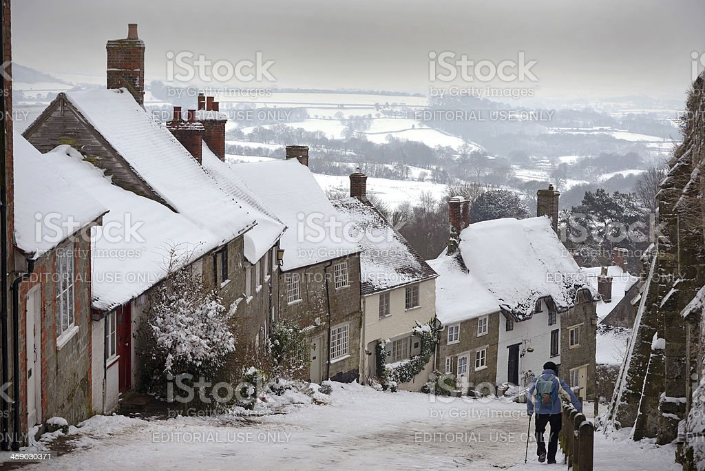 Britain in winter royalty-free stock photo
