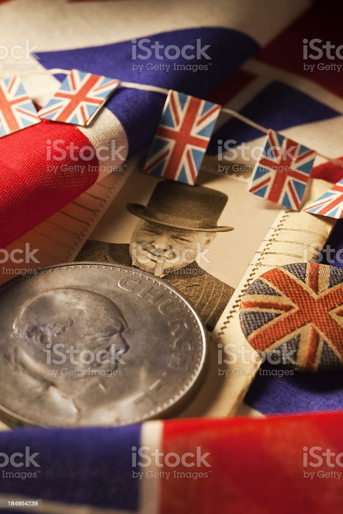 Britains Greatest Briton Winston Churchill stock photo